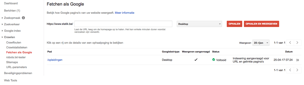 Fetchen Als Google In Google Search Console